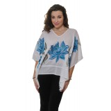 COTTON HAND-PAINTED PONCHO J 1010A