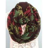 EXOTIC PRINTED ROUND-SCARF